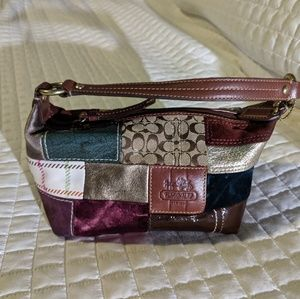 Coach small colorful patchwork mini bag